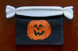 Halloween Pumpkin Bunting, rectangular, 9 metre